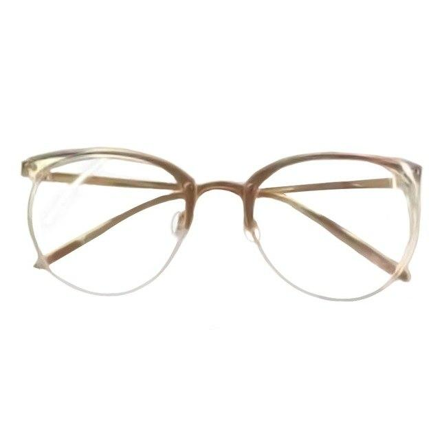 men women unisex Vintage Decoration Optical Eyeglasses Frame myopia round metaleosegal-eosegal