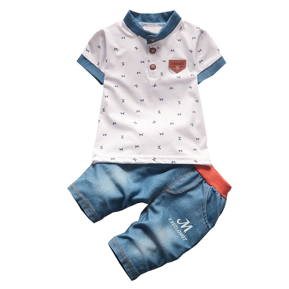 Bibicola Baby Boys Summer Clothing Sets Infant Clothes Toddler Children 2pcs Fashion Style Clothes Sets Boys Summer Sets-eosegal