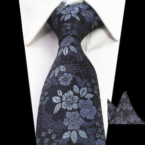 New Design Slim Tie Set for Men Floral Skinny Tie Handkerchiefeosegal-eosegal