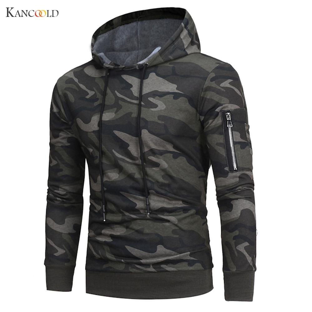 Camouflage Hoodies Men Sweatshirt Male Zipper Hooded Jacket Casual Sportswear Moleton Masculinoeosegal-eosegal