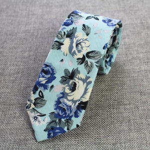 Retro Floral Ties Paisley Tie 6cm Cotton Ties For Men Fashioneosegal-eosegal