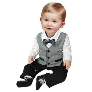 Baby Boy Suit For Wedding 2015 New Terno Bebe Menino Casamento Wedding Suits For Baby boys Newborn Baby Clothes set-eosegal