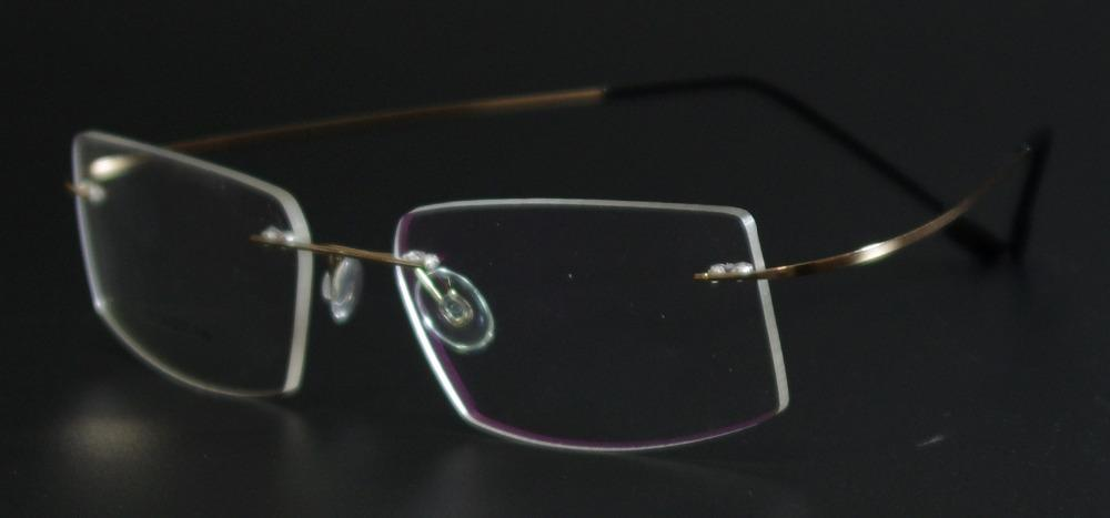 Fashion Super Flex and Light Memory Titanium Rimless Eyeglasses Frames For Myopiaeosegal-eosegal