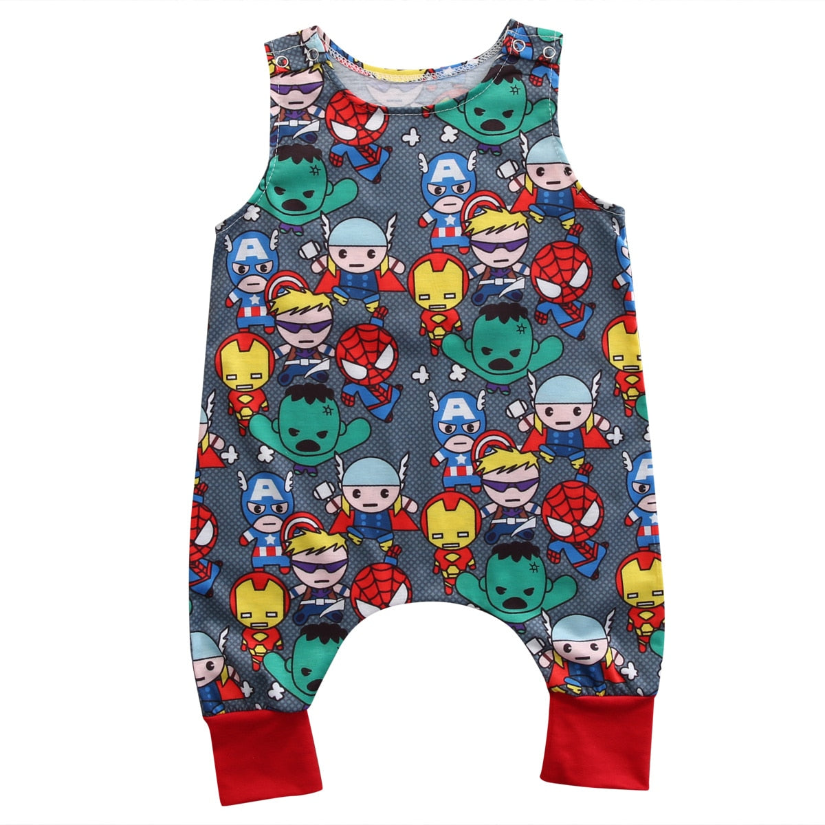Pudcoco Infant Romper Jumpsuit Summer Newborn Tank Romper Baby Clothes Cotton Super Heroes-eosegal