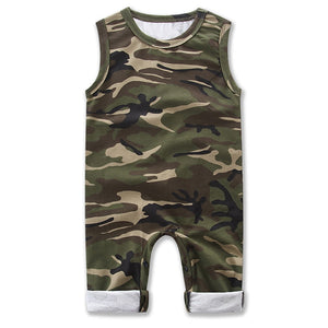 0-24M Newborn Baby Boy Girls Romper Summer Sleeveless Camouflage Infant Bebes Toddler Kids Jumpsuit Outfits Boys Clothes-eosegal