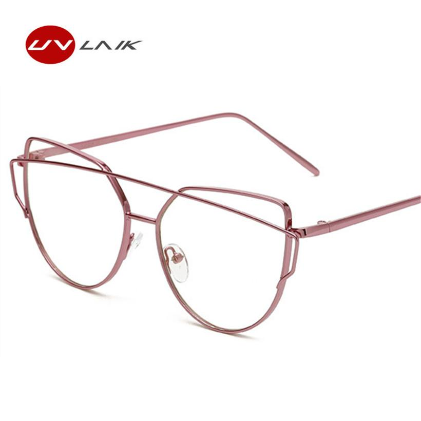 Women Cat Eye Glasses Frame Fashion Double Beam Brand Designer Eyeglasseseosegal-eosegal
