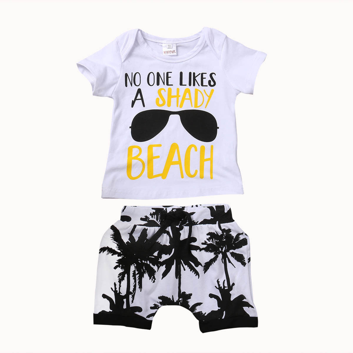 Toddler Newborn Baby Boy Clothes Set Letter Outfit Boys Short Sleeve T-shirt Tops Pants Shorts Children Clothing 0-3T 2Pcs-eosegal
