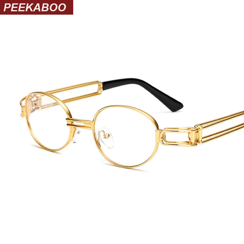 Peekaboo retro clear lens nerd glasses frames for men male oval smalleosegal-eosegal