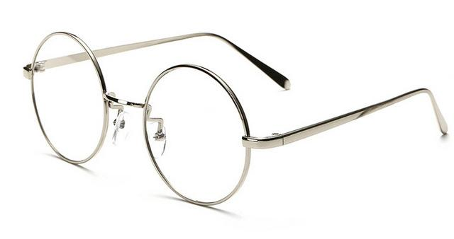 Peekaboo NEW korean retro full rim gold eyeglass frame nerd thin METALeosegal-eosegal