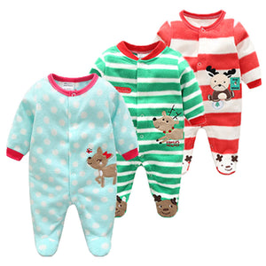 Cotton Baby Rompers Christmas Baby Boy Clothes Newborn Clothing Spring Baby Girl Clothes Roupas Bebe Infant Baby Jumpsuits-eosegal