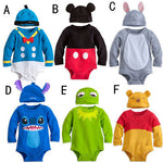 New Arrival Baby Rompers Character Cartoon 6 colours New born infant Baby Clothing Jumpsuits+ hat 2piece per set toddler overall-eosegal