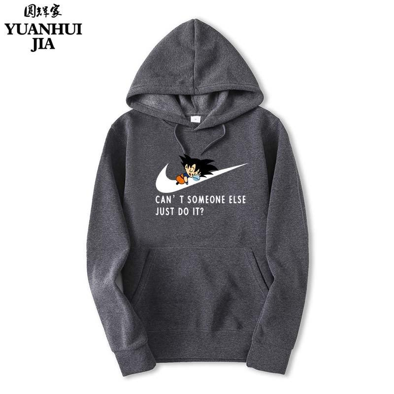 ,JUST DO IT New Men Hoodies Anime Dragonball Sweatshirt Hip-Hopeosegal-eosegal