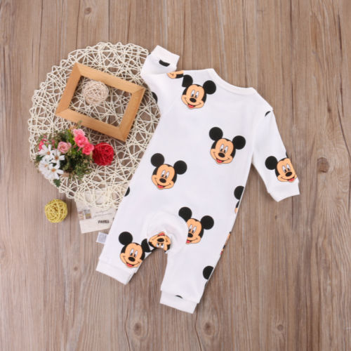 Newborn Infant Baby Boy Girl Kids minnie long sleeve Romper Clothes Outfit-eosegal