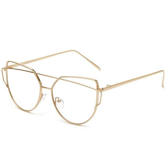 Glasses Frame Women Oversized Cat Eye Clear Lens Glasses Hexagon Eyeglasses Transparenteosegal-eosegal