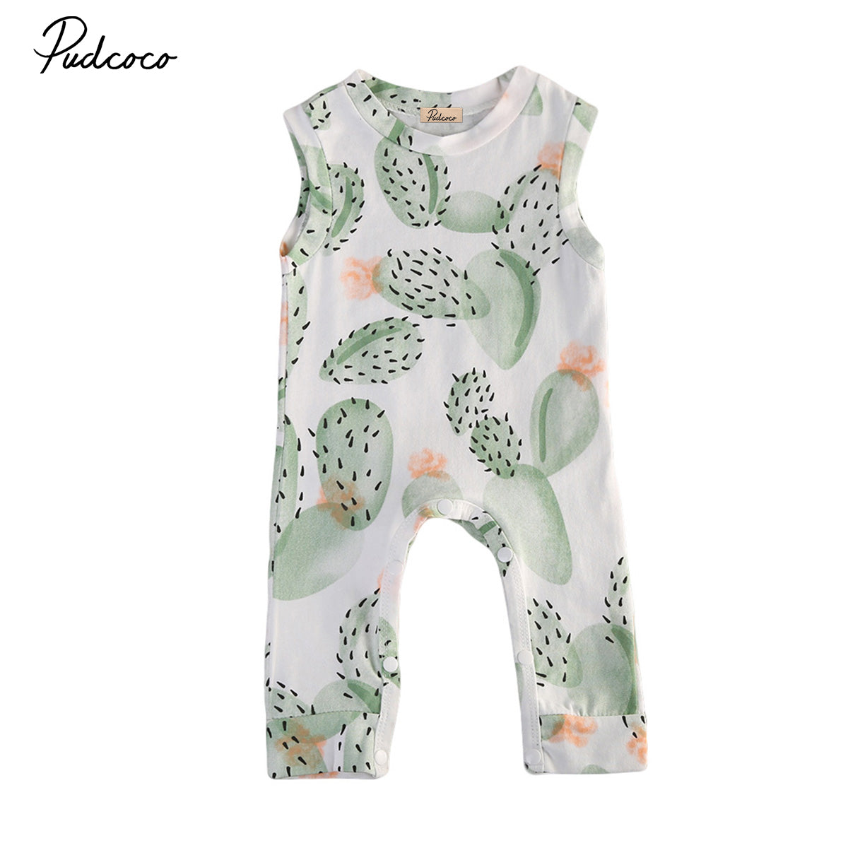 Summer cactus Baby Clothing Toddler Baby Boy Girl Kids Cotton Floral Romper Jumpsuit Clothes Outfit-eosegal