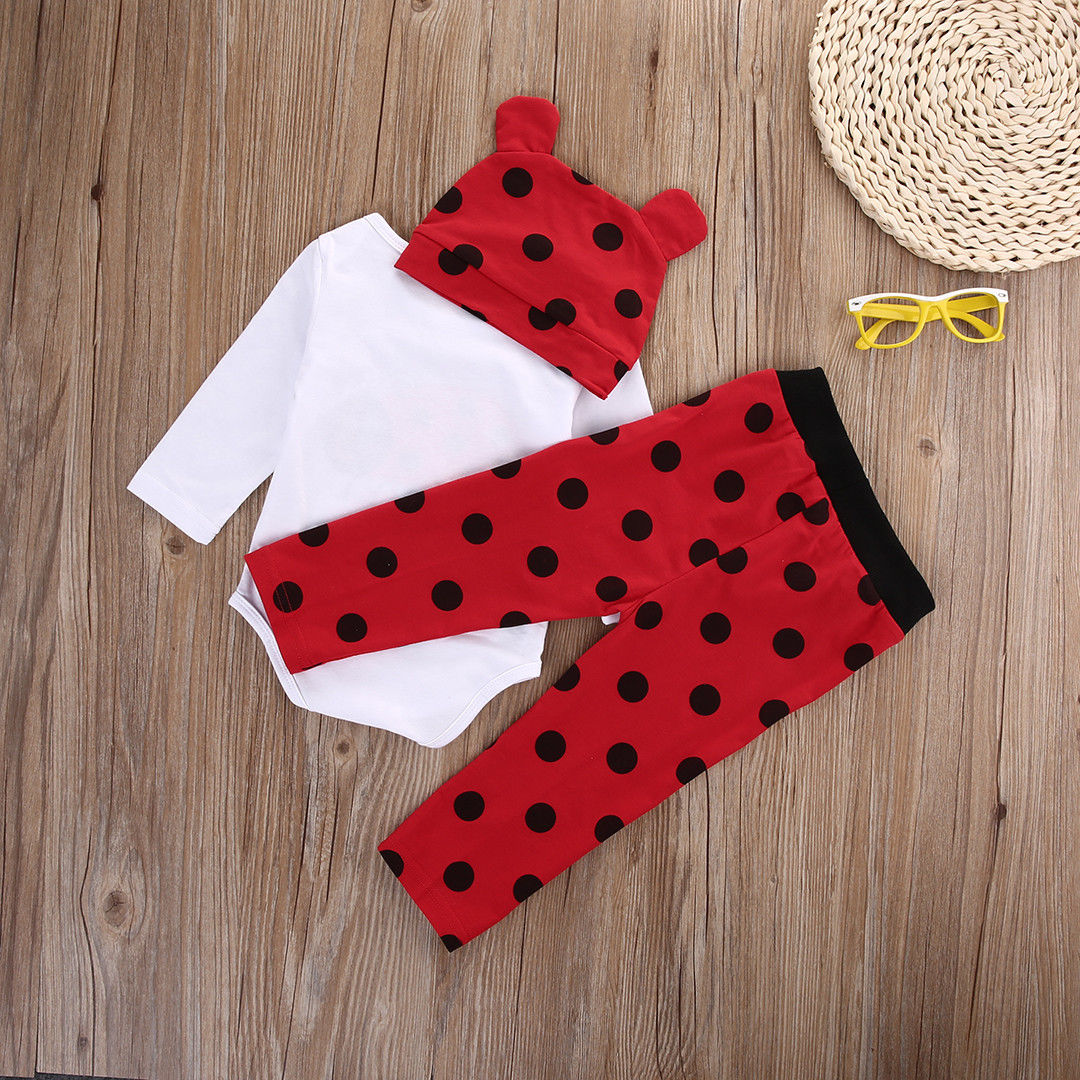 3PCS summer bulk long sleeve pullover Newborn Baby Boy Girl Rompers Top Striped + Leggings Pants +hat Outfit Set Clothes 6-18M-eosegal