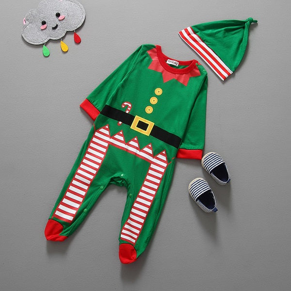 2016 Christmas gift baby boys and girls long-sleeved cotton group of children clothing + hat two-piece-eosegal