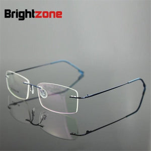 6 Frame Colors Hingless Non-screw Memory Titanium Metal Foldable Arm Eyeglasses Prescriptioneosegal-eosegal