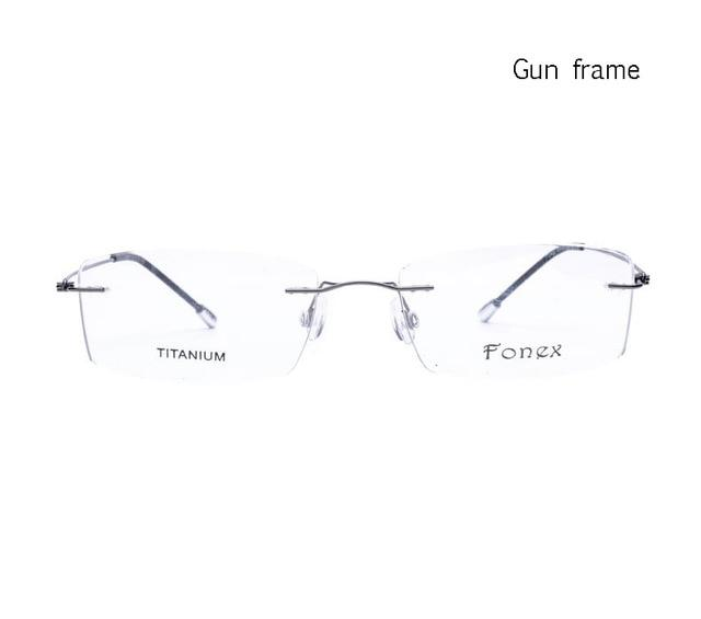 2017 Titanium Myopia Rimless Glasses Memory Square Eyeglasses Optical Spectacle Frameeosegal-eosegal