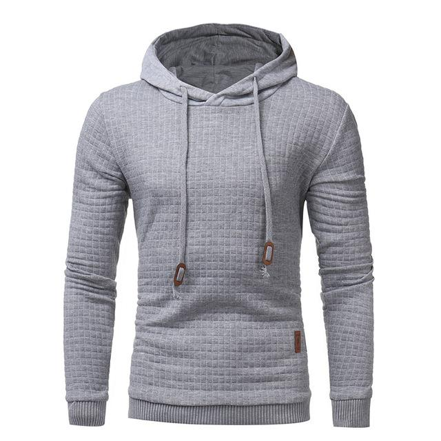 New Men Hoodies Sweatshirts Autumn Winter Solid Hoody Thick Jacket Casualeosegal-eosegal