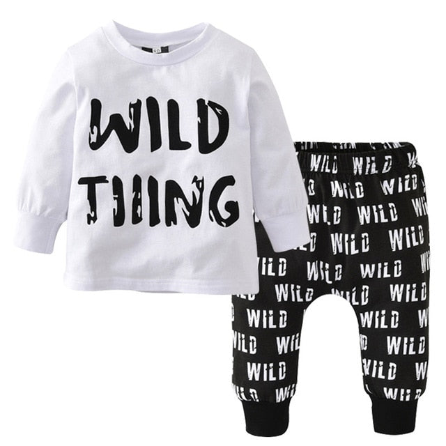 DAQURJE Autumn Newborn Baby Boy Clothes Long Sleeved T-shirt + pants Wild Tiiing Kids Children infant toddler clothing sets-eosegal