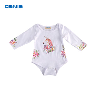 2017 Brand New Unicorn Newborn Toddler Baby Girls Boys Infant Long Sleeve Bodysuit Jumpsuit Outfits Lovely Clothes-eosegal