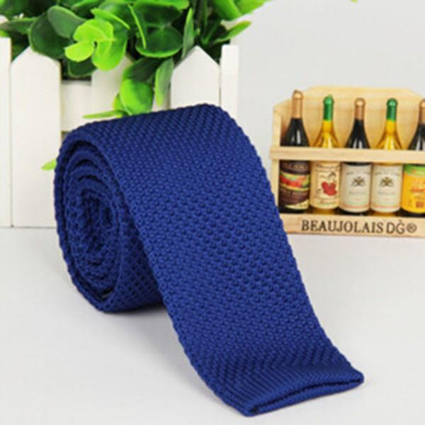 Stylish Men Solid Color Slim Skinny Woven Knit Knitted Tie Narrow Necktieeosegal-eosegal