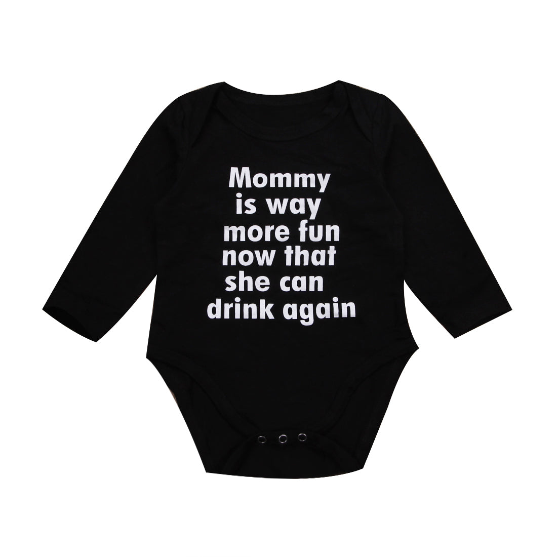 Cotton Newborn Baby Girl Boy Clothes Long Sleeve Letter Romper Jumpsuit Playsuit Outfit-eosegal