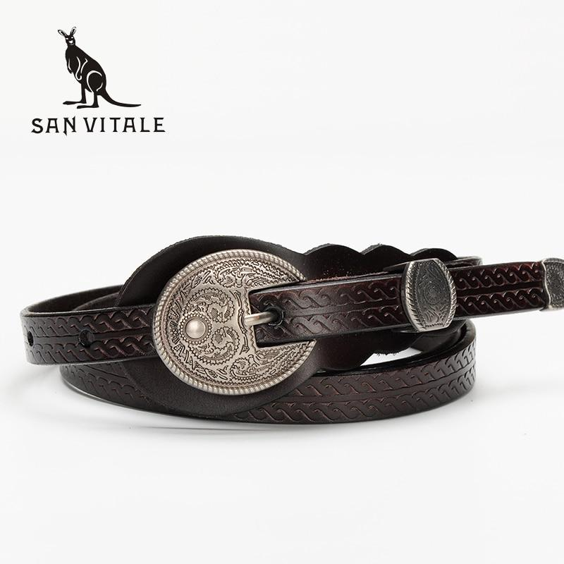 New Women Fashion Belts Genuine Leather Belt Woman Spring Summer Luxury Jeans Dress Female Top Quality Straps Ceinture Femme-eosegal