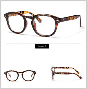 Retro Designer Eyeglasses Frames With Clear Lens johnny depp Glasses Opticaleosegal-eosegal