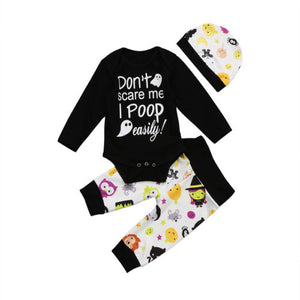 Newborn Baby Boys Girls Halloween Romper Pants Legging Clothes Outfit Set 0-18M Baby Clothing-eosegal