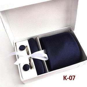 Fashion 6pcs/set Necktie Groom Gentleman Neck Tie Set Wedding Birthday Party Giftseosegal-eosegal