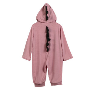 Newborn Infant Baby Boy Girl Dinosaur Hooded Romper Jumpsuit Outfits Clothes Long Sleeve Solid Baby Rompers Casual Comfortable-eosegal
