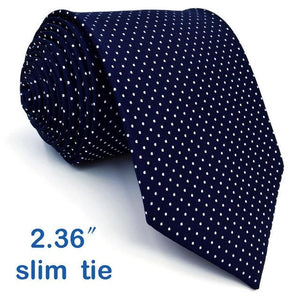 S6 Dots Navy Dark Blue White Jacquard Woven For Men Tieseosegal-eosegal