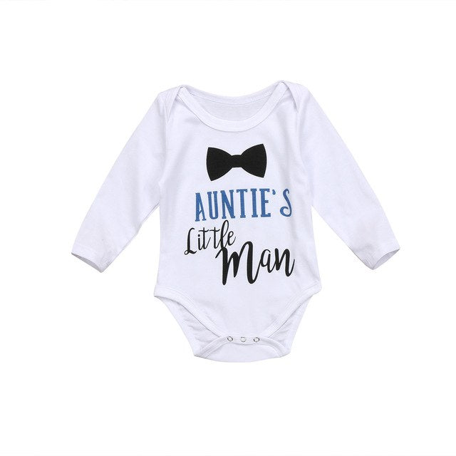 Newborn Infant Kids Baby Boy Girl Clothing Bodysuit Jumpsuit Long Sleeve Cotton Clothes Outfits Baby Boys-eosegal