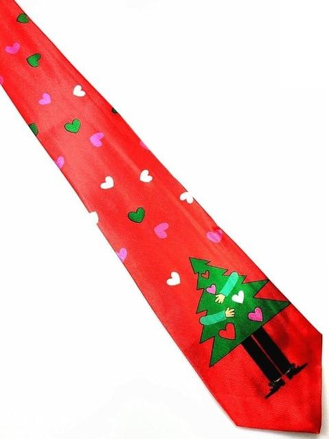 Blue Printed Christmas Tie 9.5cm Green Tree Novelty Necktie Red Santaeosegal-eosegal
