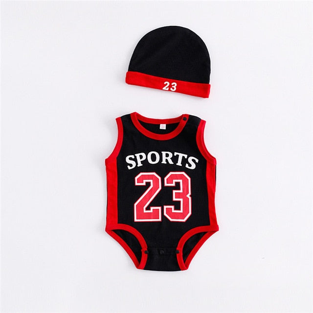 Newborn Baby Rompers Cute Basketball kids Clothes boys Girl Jumpsuits Roupas De Bebe Infantil Baby 23 Sport Clothing-eosegal