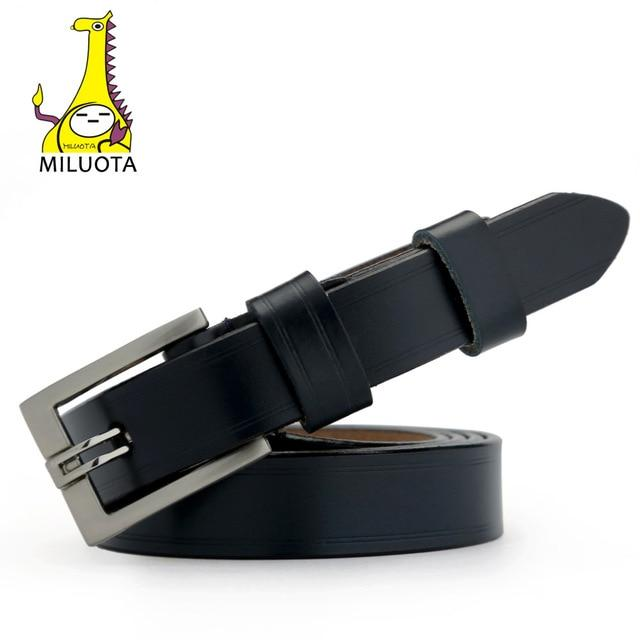 [MILUOTA] Designer Belts for Women Genuine Leather Fashion Dress belt Woman Vintage cinturones mujer MU032-eosegal