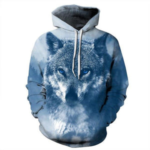 Mr.1991INC New Arrivals Men/women Hooded Hoodies Print Wolf Thin Spring Autumn 3deosegal-eosegal