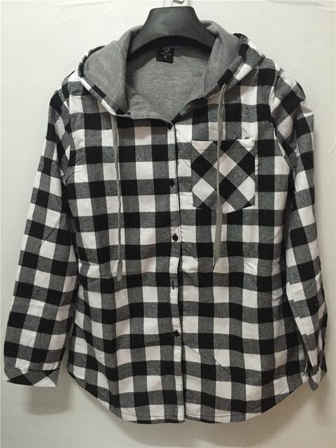 Fashion Men Women Hoodies Cotton Autumn Winter Coat Long Sleeve Plaid cottoneosegal-eosegal