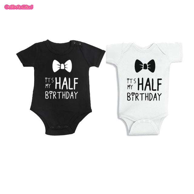 Culbutomind Twins Baby Clothes Half Birthday Boy Outfit, Its MY HALF BIRTHDAY Bodysuit 6 Months Boy Outfit for Boys Girls0-12M-eosegal