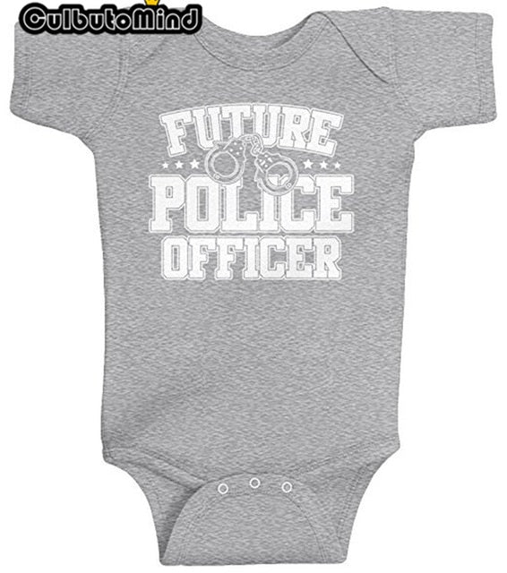 Culbutomind Newborn Infant Baby Boy Girl Unisex Baby clothing Future Police Officer Bodysuit-eosegal