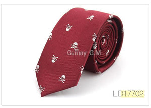 New Casual Slim Skull Ties For Men Classic Polyester Neckties Fashion Maneosegal-eosegal
