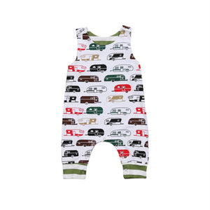 Pudcoco 2017 Cute Newborn Kids Baby Infant Romper Sleeveless Anime Car Cotton Clothes Set Novelty Outfits 0-24M-eosegal