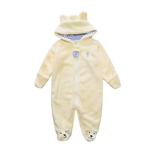 Winter Child Pantyhose Bear style children's coral fleece Hoodies overalls newborn baby sliders newborn toddle clothes JP-133-eosegal