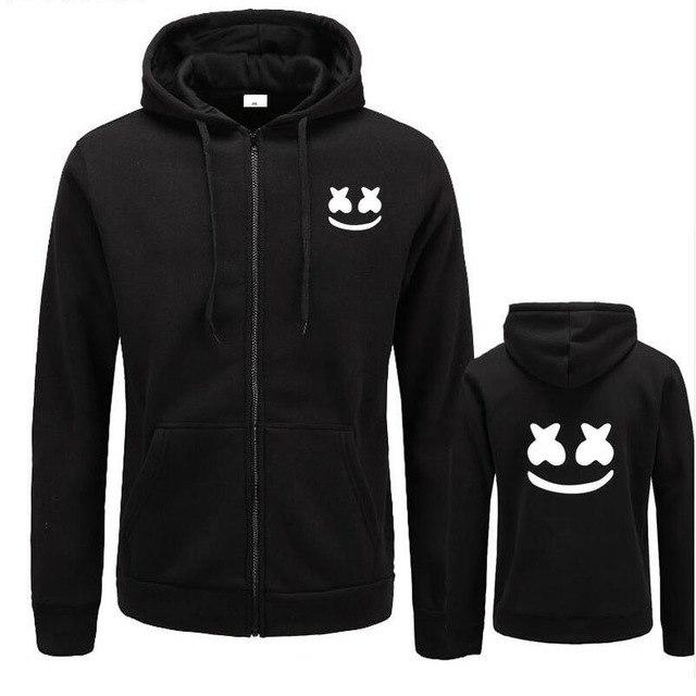 2017 New brand marshmello face Hoodies men Casual Slim Fit Hoodies Sweatshirteosegal-eosegal