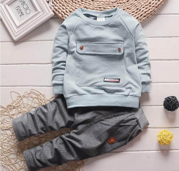 2017 Fashion Autumn Baby Boy Girl Clothes Long Sleeve Top + Pants 2pcs Sport Suit Baby Clothing Set Newborn Infant Clothing-eosegal