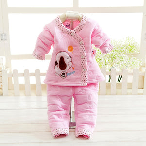 Newborn baby girl winter clothes Infant clothing Soft cotton baby boys winter clothes sets baby girls clothing-eosegal