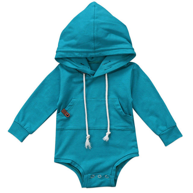 2017 Brand New Toddler Infant Baby Boys Girls Clothes Outfit Hooded Top Long Sleeve Jumpsuit Bodysuit Xmas Gifts Casual Clothes-eosegal