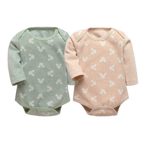 Baby Bodysuits Spring Autumn 2PCS Baby Ropa Cotton Clothes Long Sleeve Baby Jumpsuit Little Kids Clothes 9-18M New Born Babies-eosegal